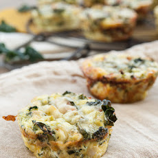 Mini Crustless Kale and Broccoli Quiches