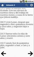 Screenshot of Bible in Spanish Offline