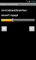 Screenshot of brainRec Voice Recorder