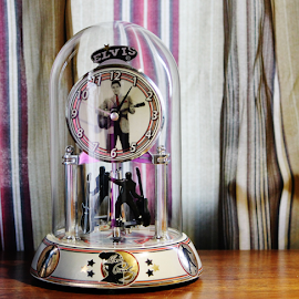 Glass Clock by Priscilla Renda McDaniel - Artistic Objects Glass ( collectibles, elvis, clock, glass, globe, object )