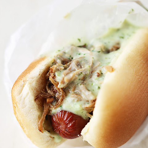 Sweet Pork & Tomatillo Ranch Hot Dogs
