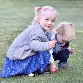 siblings by Melanie Pista - Babies & Children Children Candids ( sister, red, blue, brother, siblings )