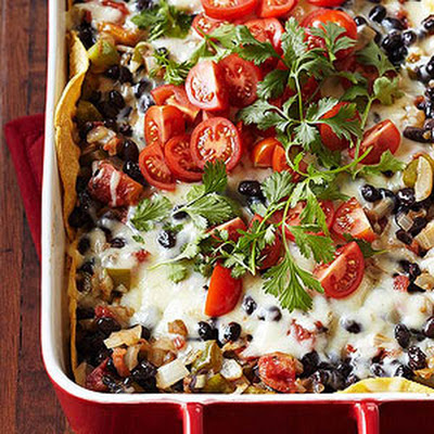Tortilla-Black Bean Casserole