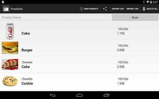 TabShop - Point of Sale POS - screenshot