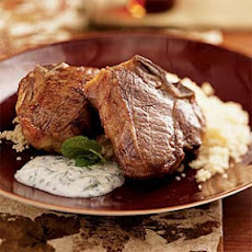 Lamb Chops with Herbed Yogurt over Couscous