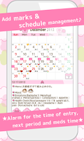 Screenshot of LadysCalendar Free (Period)