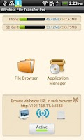 Screenshot of Wireless File Transfer Pro