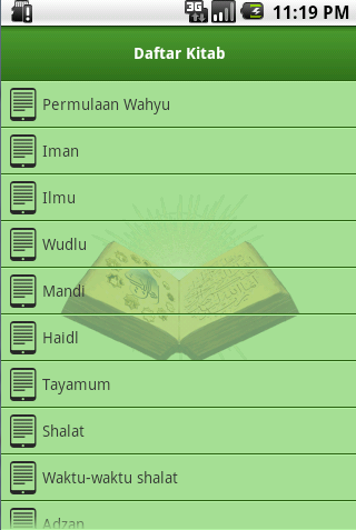 Screenshot #7 of Shahih Bukhari Indonesia / Android