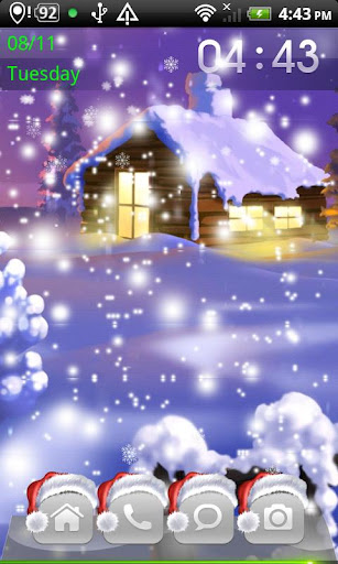 Christmas Falling Snow Theme