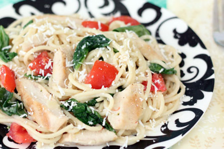 Grilled Chicken Florentine Spaghetti Recipe | Yummly