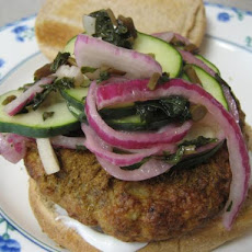 Tandoori Chicken Burgers With Minted Cucumbers