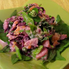 Fresh Leprechaun Footprint Salad With Eye of Newt Dressing
