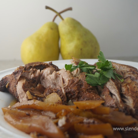 Balsamic Honey Pork Tenderloin with Pears