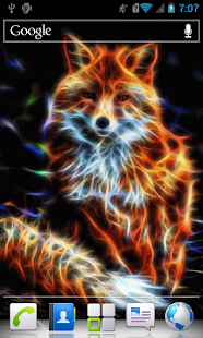 Glowing Fox LWP - screenshot