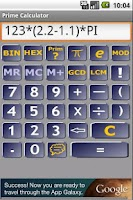 Screenshot of Prime calculator