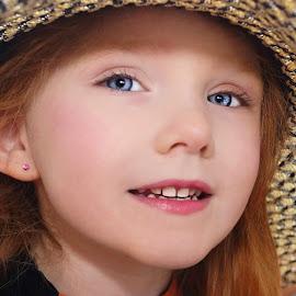 Modeling Mommy's Hat by Cheryl Korotky - Babies & Children Child Portraits