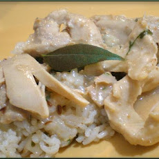 Indian Chicken in White Gravy (Safed Murgh - Curry)