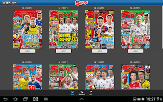 Screenshot of BRAVO Sport ePaper
