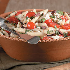 Pasta with Cherry Tomatoes, Olives, and Feta