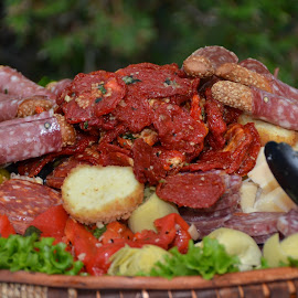 Antipasto by Lorraine D.  Heaney - Food & Drink Meats & Cheeses