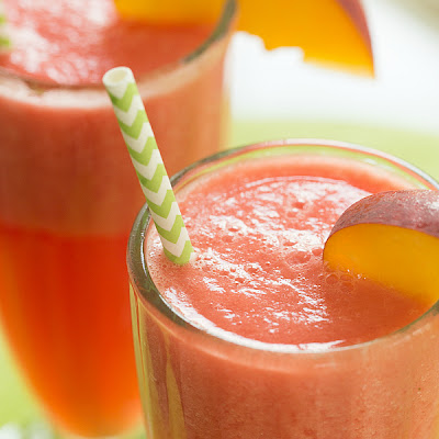 Watermelon-Peach Slushies
