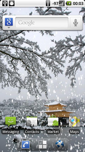 冬の京都:金閣寺の雪景色