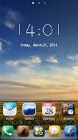 Screenshot of Galaxy GO Launcher Theme