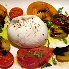 Burrata Cheese, Heirloom Tomatoes