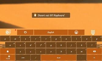 Screenshot of Desert cat GO Keyboard