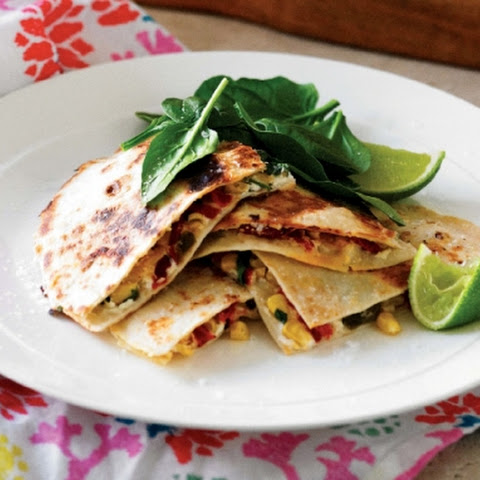 Corn And Goat Cheese Quesadillas
