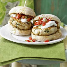Italian Chicken & Basil Burgers With Tomato Relish