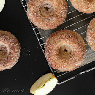 Whole Grain Apple Cinnamon Baked Donuts