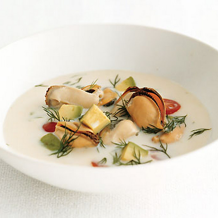 seafood chowder golden mussel chowder with pei mussel soup mussel ...