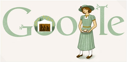 Google Doodle Katherine Mansfield's 125th Birthday