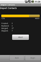 Screenshot of Import Contacts (old)