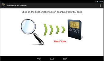 Screenshot of Manually Scan SD Card / Media