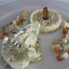 Chicken Breasts in a Date, Caper, and Mascarpone Sauce with Couscous