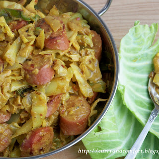 Cabbage and Kielbasa Curry