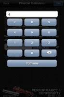 Screenshot of PineCar Calculator