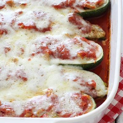 Sausage Stuffed Zucchini Boats from Skinnytaste.com