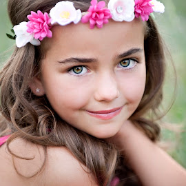 by Melissa Papaj - Babies & Children Child Portraits ( child, glamour, model, girl, female, children, pink, flowers )