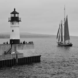 Light House  by Tina Hailey - News & Events Entertainment ( water, tall ships, boats, lighthouse, festival, sails, duluth minnesota, tinas capture moments )