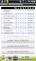 Screenshot of Handball Résultats