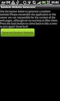 Screenshot of Bored Random Website Generator