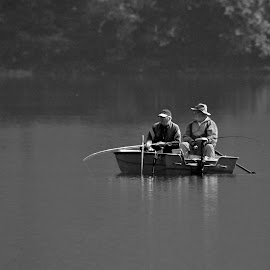 The old fisherman by Jože Borišek - People Couples ( water, bohinj ( slovenia), boat )