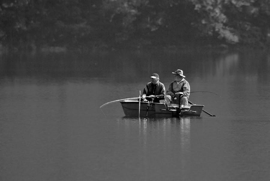 The old fisherman by Jože Borišek - People Couples ( water, bohinj ( slovenia), boat )