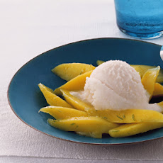 Lychee Coconut Sorbet with Mango and Lime