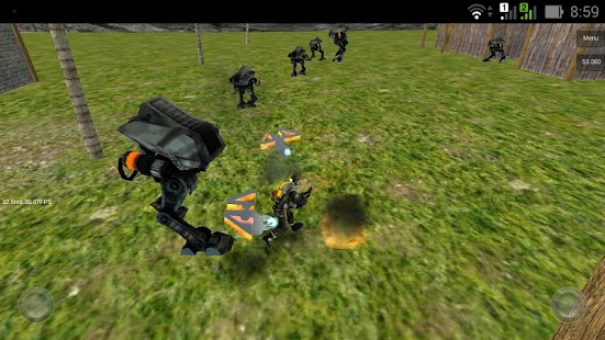 Battle robots vs havy troopers - screenshot