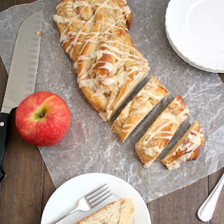 Sweet Glazed Apple-Cinnamon Yeast Bread