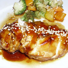 Honey-Orange Chicken With Sesame Sauce